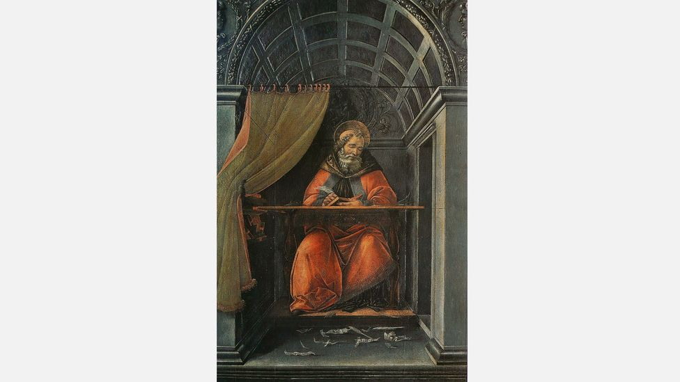 St Augustin dans son cabinet de travail, or St Augustine at Work, by Sandro Botticelli (Credit: Wikipedia Commons)