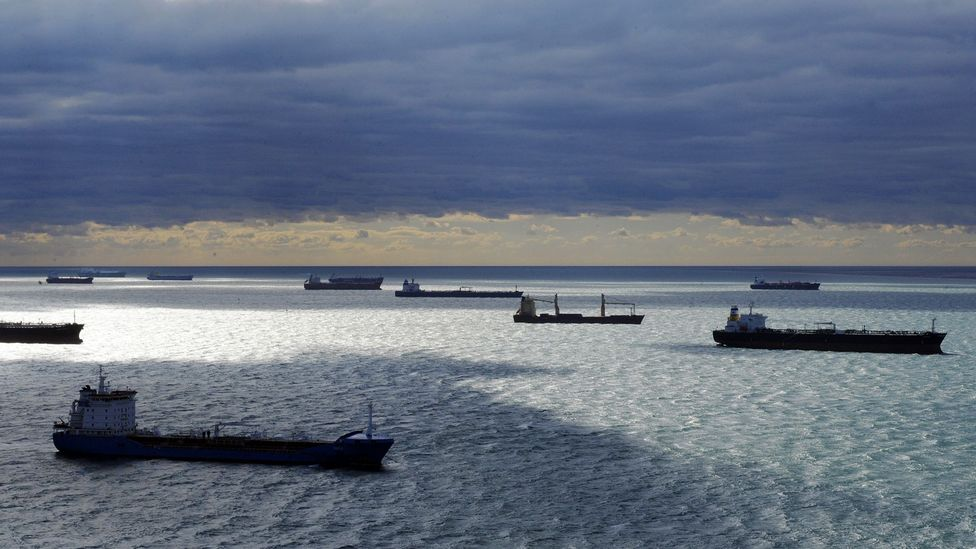 Ships waiting outside port (Credit: Getty Images)
