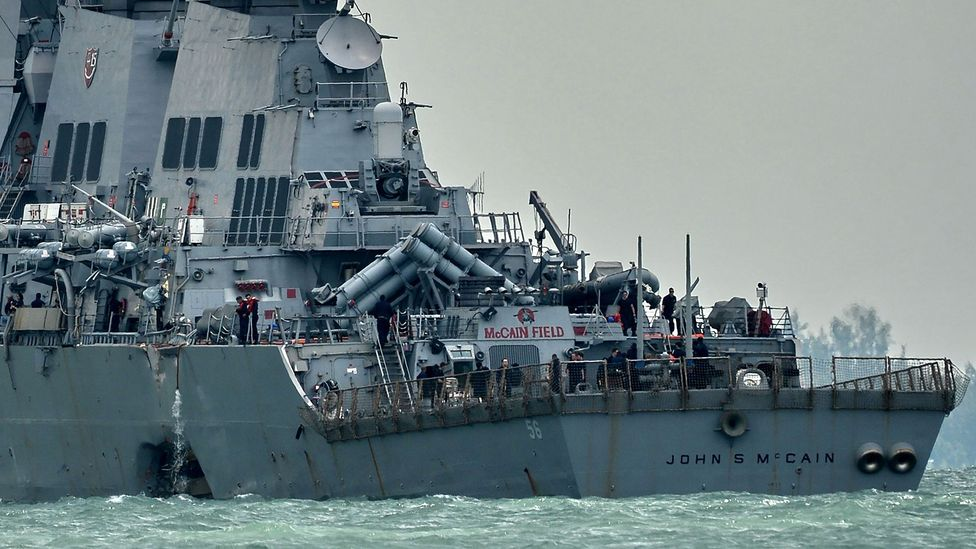 The USS John S McCain crash is only the latest incident involving vessels colliding at sea (Credit: Getty Images)