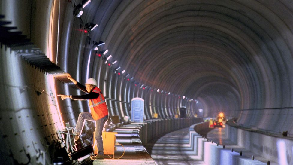 Despite Margaret Thatcher's wishes to the contrary, the Channel Tunnel was not built as a road tunnel (Credit: Alamy)