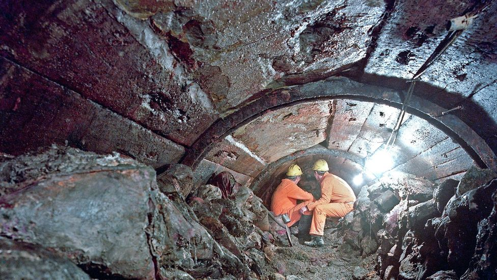 Although the 1880 tunnel never was completed, the Channel Tunnel intersected with the century-old version during its construction (Credit: Alamy)
