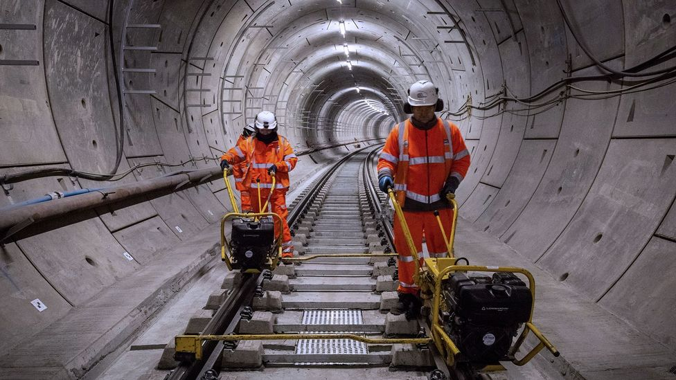 Today, London's Crossrail project is using UK tunnelling expertise (Credit: Alamy)