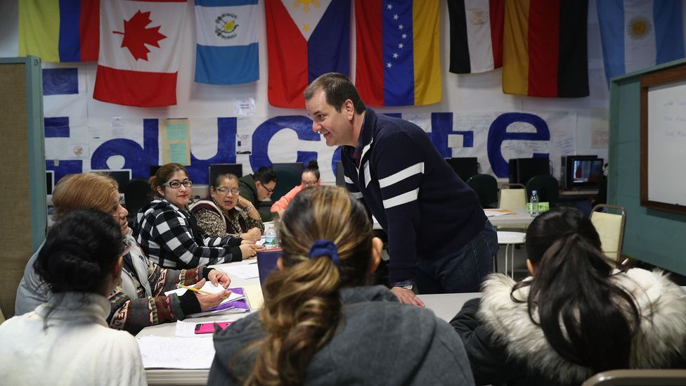 Sometimes life circumstances force adult learners over mental hurdles, like the immigrants at this ESL migrant centre in Connecticut. (Credit: Getty)