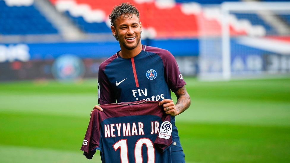 Neymar broke records with this month's transfer from Barcelona to Paris Saint-Germain (Credit: Getty Images)