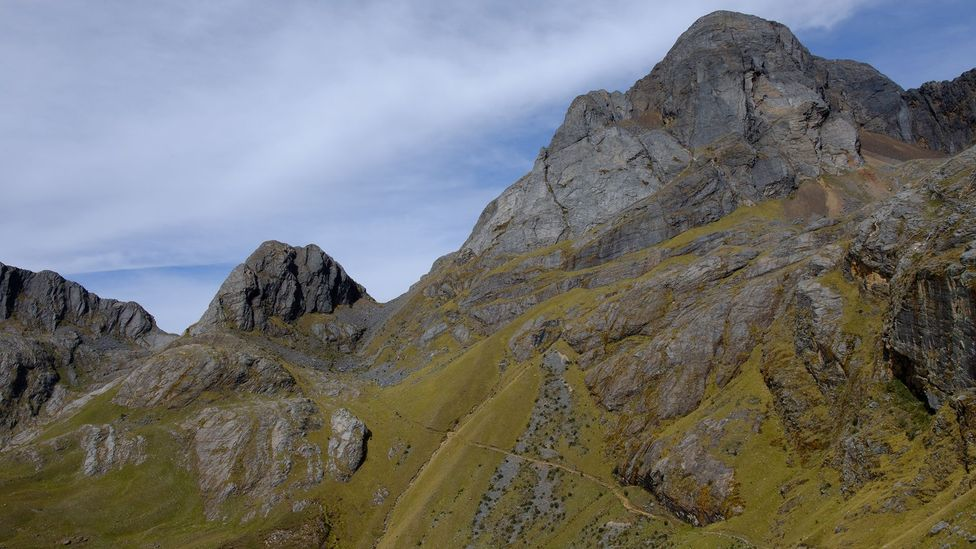 View of the Qhapaq Ñan Inca road in the Andes in Peru (Credit: Kevin Floerke)