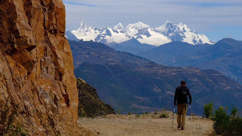A hiker along the Qhapaq Ñan in the Peruvian Andes (Credit: Kevin Floerke)