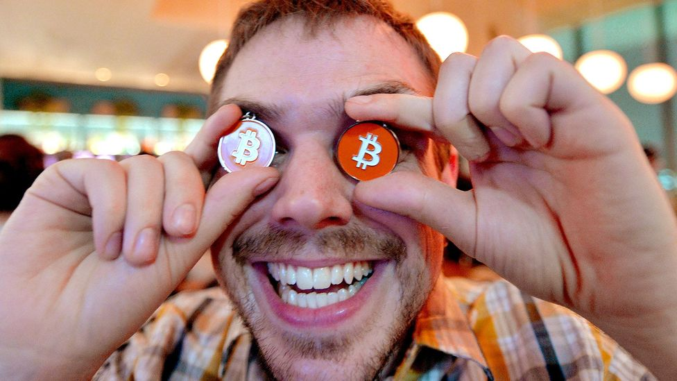 The notoriously volatile crypto-currency has been making headlines with its skyrocketing value, but some believe it's a bubble driven by speculation (Credit: Getty Images)