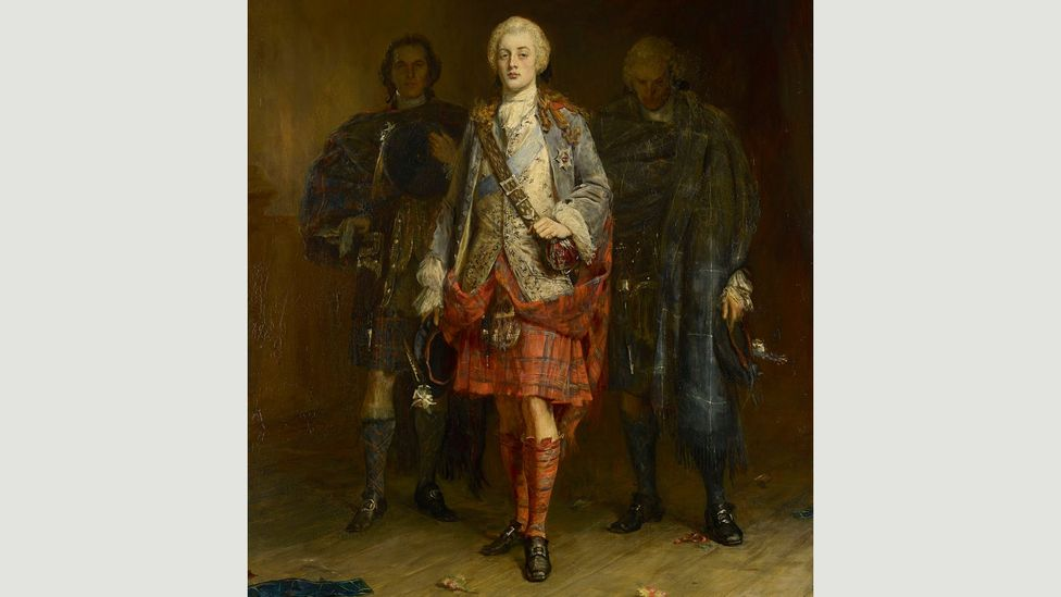 Bonnie Prince Charlie embodied the romantic Scottish rebel. John Pettie's 1892 portrait shows him entering the ballroom at Holyroodhouse (Credit: National Gallery of Scotland)