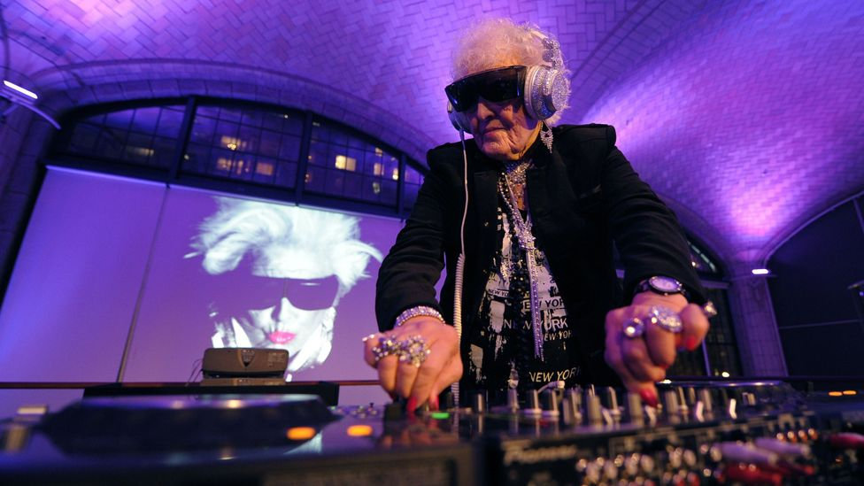 Age ain't nothin' but a number for Ruth Flowers, known by her stage name as DJ Mamy Rock, who is 69 and still bringing down the house (Credit: Getty Images)