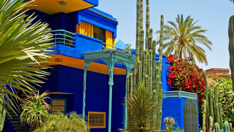 The Majorelle Garden in Marrakech was designed in 1924, and was acquired by Yves Saint Laurent and Pierre Bergé in 1980 (Credit: Alamy)