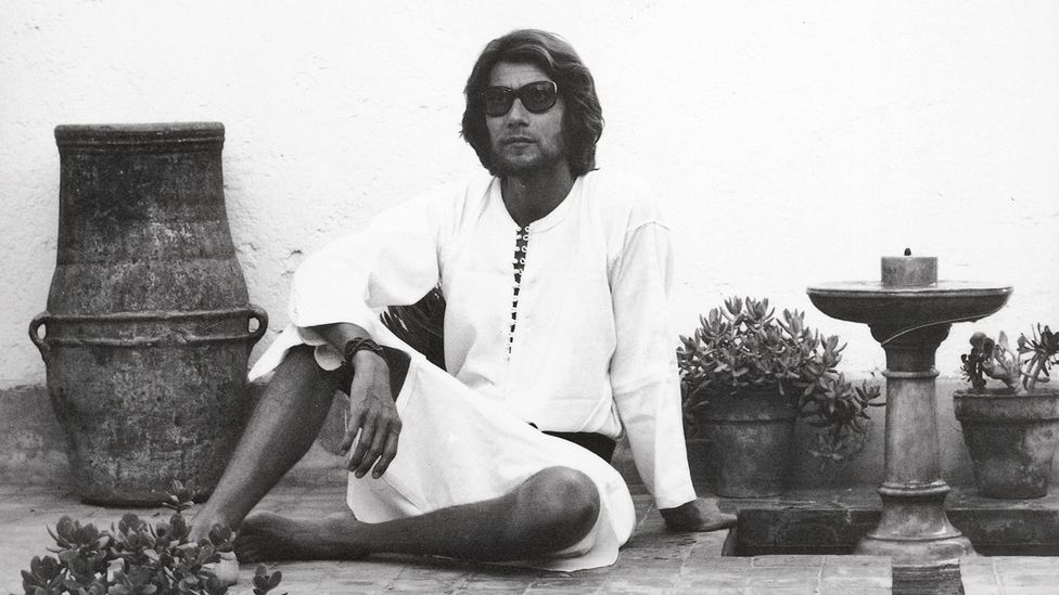 Moroccan style was a big influence in Yves Saint Laurent, who in the 1970s grew his hair long and frequently sported a kaftan (Credit: Reginald Gray)