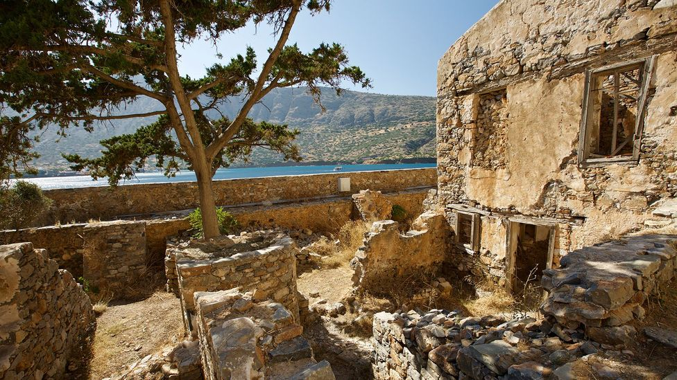 The Greek government tried to destroy all traces of the colony after its closure in 1957 (Credit: Elizabeth Warkentin)