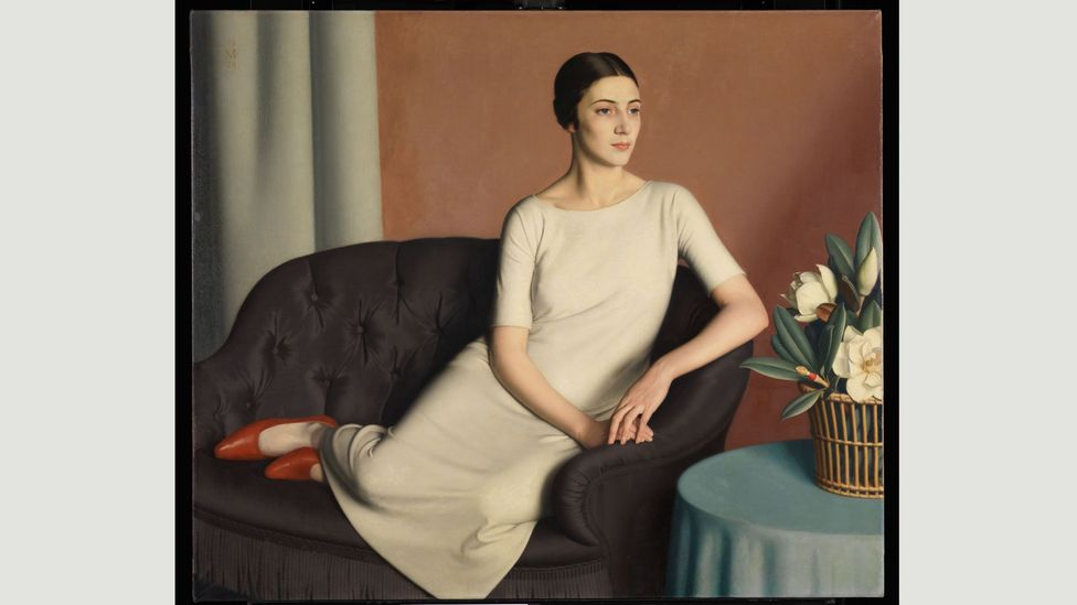 Frampton's masterpiece Woman Reclining of 1928 featuring the model Marguerite Kelsey is the epitome of chilly 20s glamour (Credit: National Gallery of Scotland)