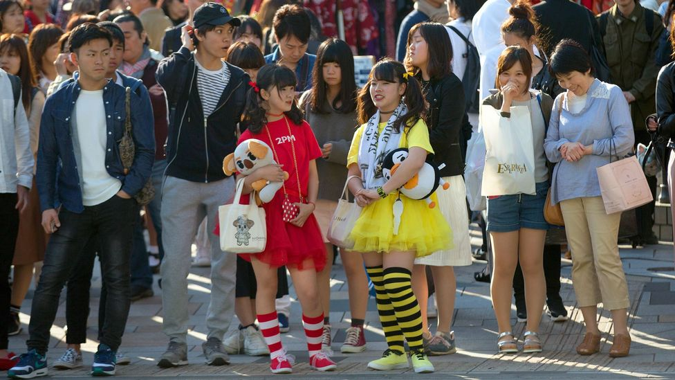 The district of Harajuku in Tokyo has always attracted inventive teen subgroups (Credit: Carl Court/Getty Images)