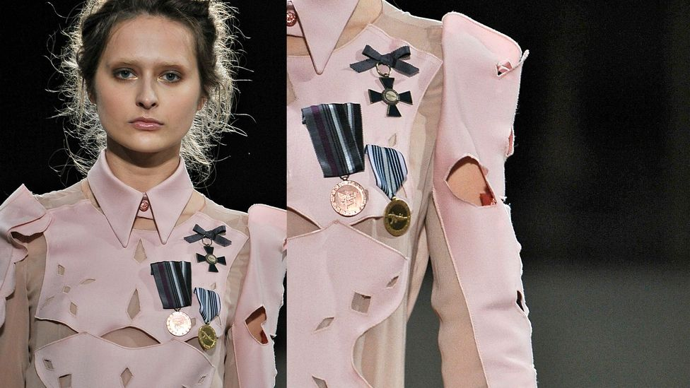 """""""In Russian culture, they had so many medals there was no room for more on a jacket,"""" jokes Gosia Baczyńska, who includes medals in some of her designs (Credit: Gosia Baczyńska)"""