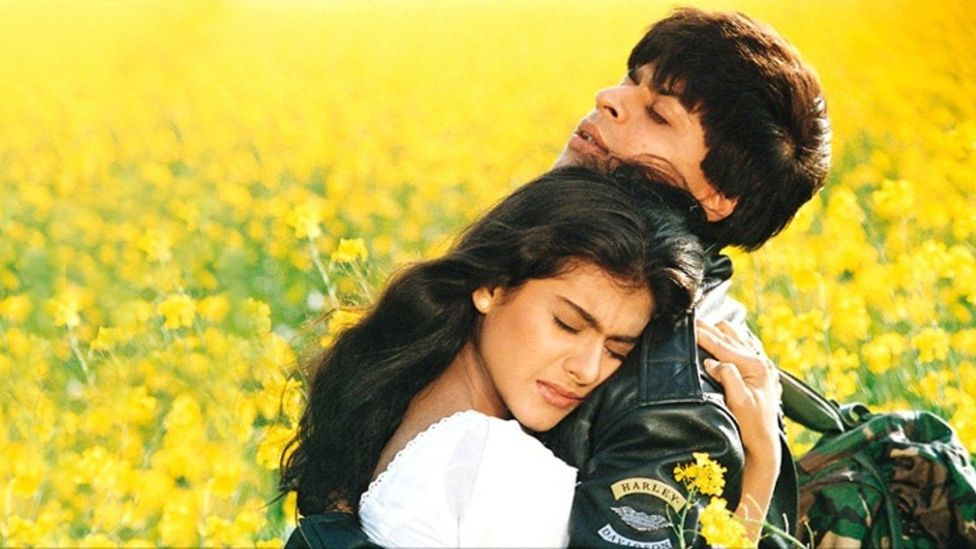 Dilwale Dulhania Le Jayenge telegraphed the corrupting influence of Western society by having its male lead wear a Harley Davidson jacket (Credit: Yash Raj Films)