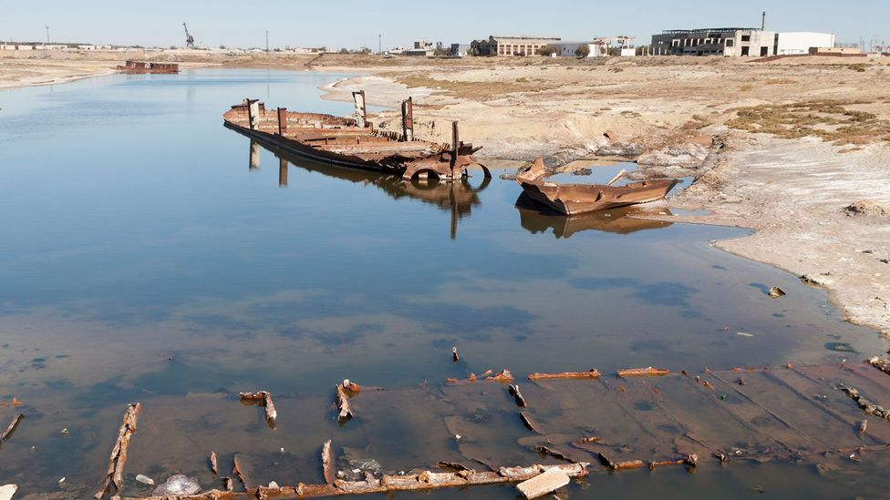 """The Soviets diverted the rivers that once fed the Aral Sea to grow cotton, which they called """"white gold"""" (Credit: iStock)"""