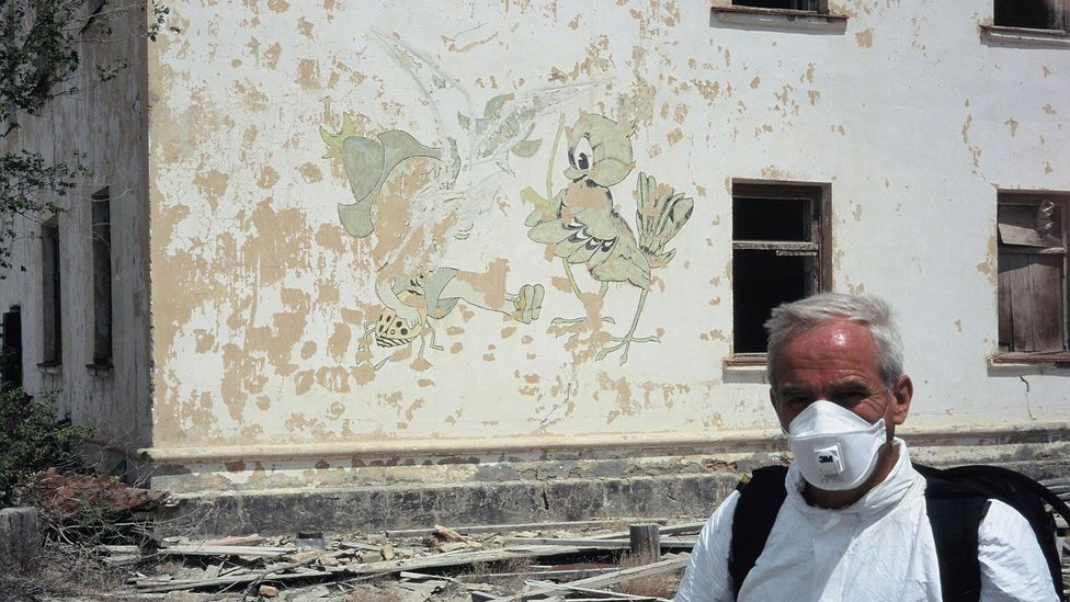 By the 1990s, residents of the town of Kantubek were keen to leave (Credit: Nick Middleton)