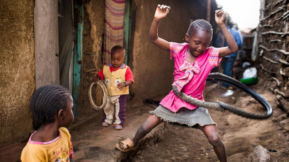 Children born in Kenyan slums have a very different life expectancy to those born in the rich cities of the West (Credit: Alamy)