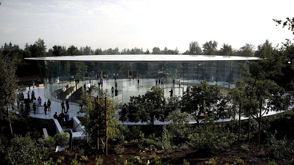 The Steve Jobs Theater at Apple's $5bn campus in Cupertino, California (Credit: Getty Images)