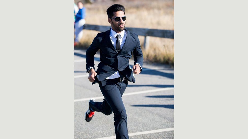 Ministry of Supply CEO Gihan Amarasiriwardena ran a half-marathon in the company's clothing, to showcase its performance credentials (Credit: Ministry of Supply/Timothy Anaya)