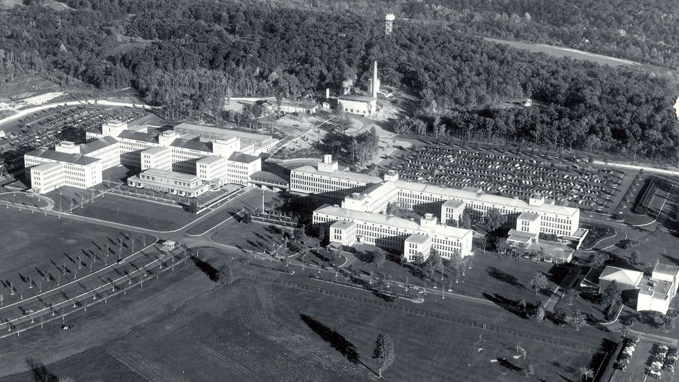 The Bell Labs campus in New Jersey, taken in 1949 (Credit: AT&T Archives and History Center)