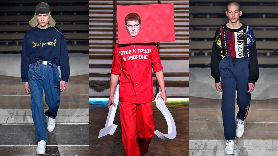 Designs by Gosha Rubchinskiy, the poster boy for post-Soviet fashion, have caught the eye of fashion houses ranging from Comme des Garçons to Burberry (Credit: Getty Images)