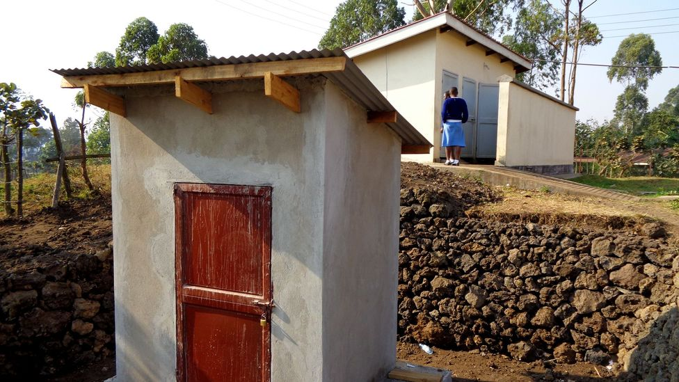 Bacteria are powering the lights of a toilet block at a girls' school in a remote area of Uganda (Credit: Bristol BioEnergy Centre)
