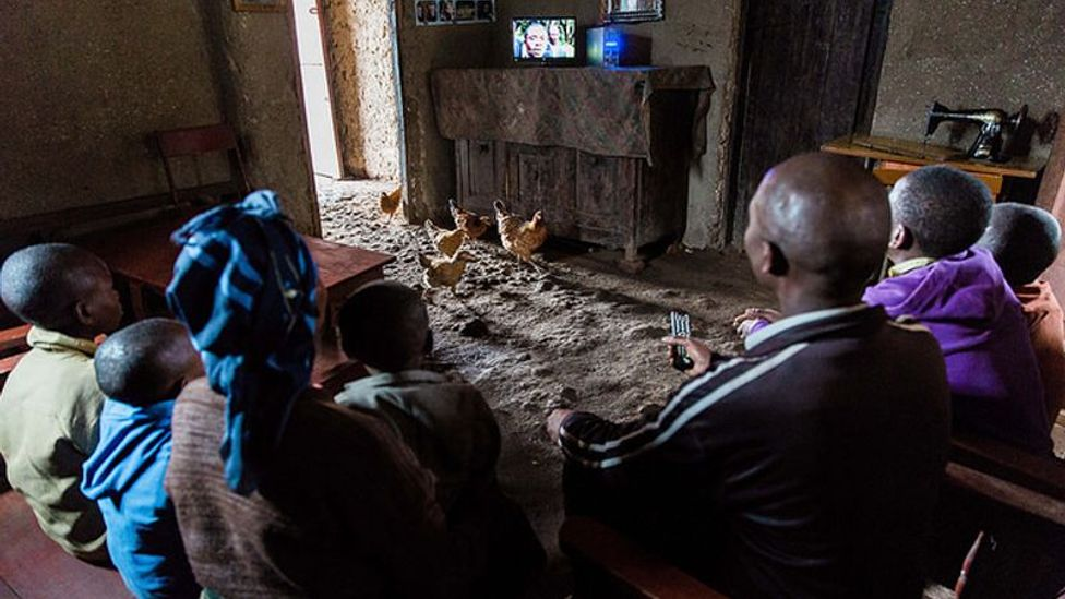 Pay-as-you-go solar energy plans have brought many families electricity and TV for the first time (Credit: BBOXX)
