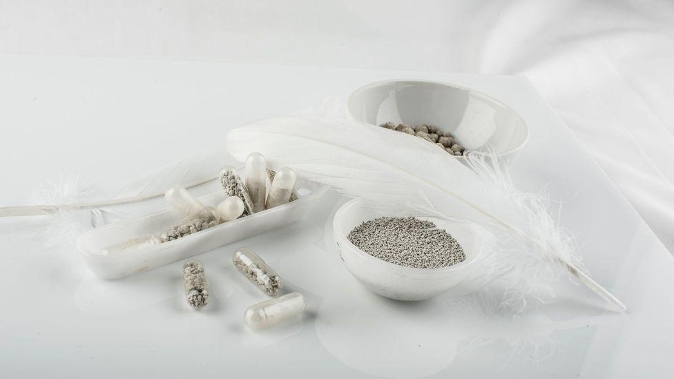 The initial design of Aeropowder created a powder-like substance (Credit: Aeropowder)