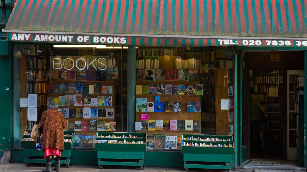 Fowler recommends that second-hand bookshops are best visited alone and in the rain (Credit: Alamy)