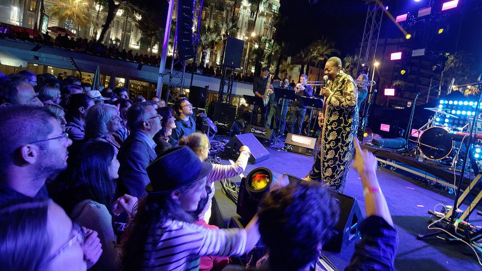 There have always been female chantwells but Calypso Rose, seen here performing in Cannes in 2016, was among the first to gain commercial success (Credit: Alamy)