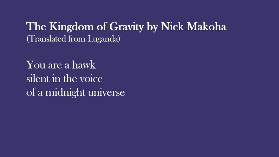 Extract from The Kingdom of Gravity by Nick Makoha (translated from Luganda)