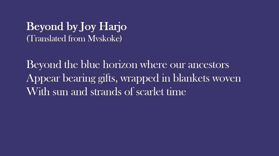 Extract from Beyond by Joy Harjo (translated from Mvskoke)