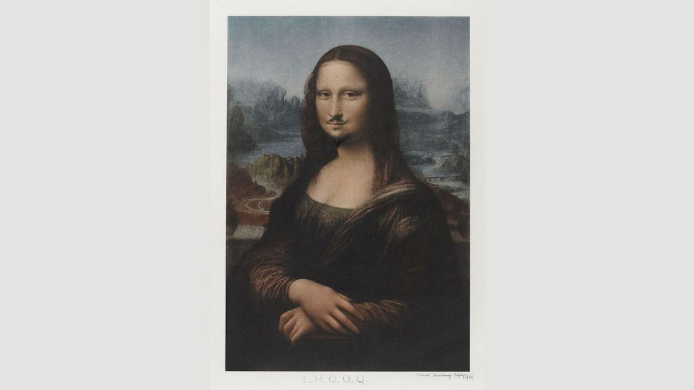Duchamp already had a penchant for artistic wit before meeting Dalí – the moustache he gave the Mona Lisa in his work LHOOQ almost looks like Dalí's own (Credit: Alamy)