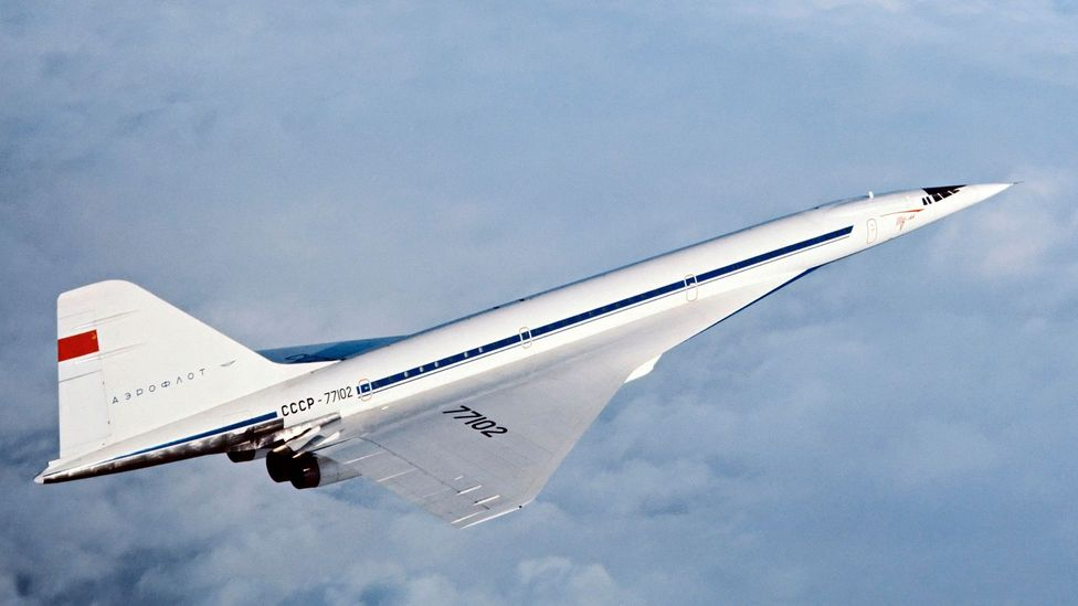 Tu-144 in flight (Credit: Science Photo Library)