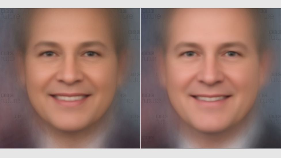Democrat composite (left) vs Republican composite (right) (Credit: Giuseppe Sollazzo/BBC Future)