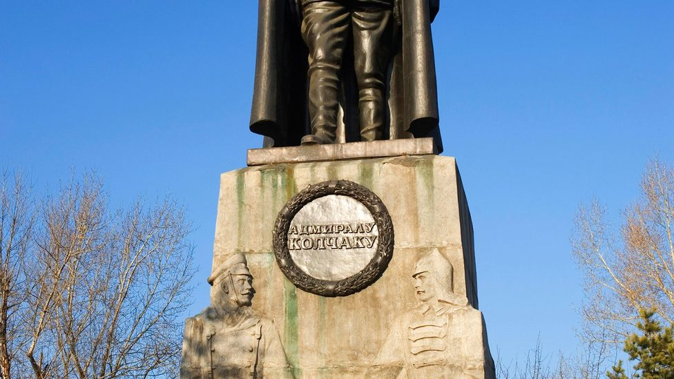 White Forces general Alexander Kolchak, long portrayed as an enemy of the state, is now honoured with a statue in Irkutsk (Credit: Wolfgang Kaehler/Getty Images)