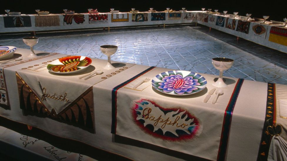 Judy Chicago, Dinner Party, 1979 (Credit: Judy Chicago)