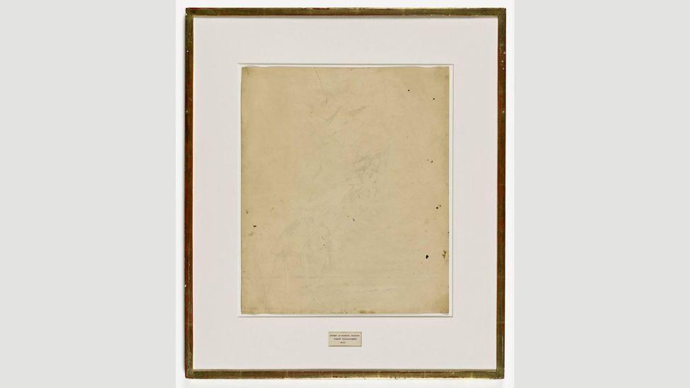 Erased de Kooning Drawing, Robert Rauschenberg, 1953 (Credit: Wikipedia)