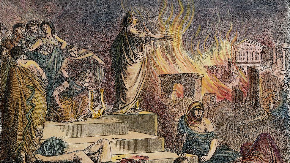 The Roman emperor Nero is the archetype of the poet-tyrant (Credit: Alamy)