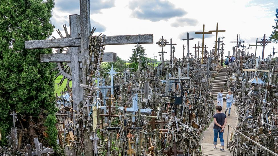 The Hill of Crosses is a Lithuanian pilgrimage site with mysterious origins (Credit: Paul Stewart)