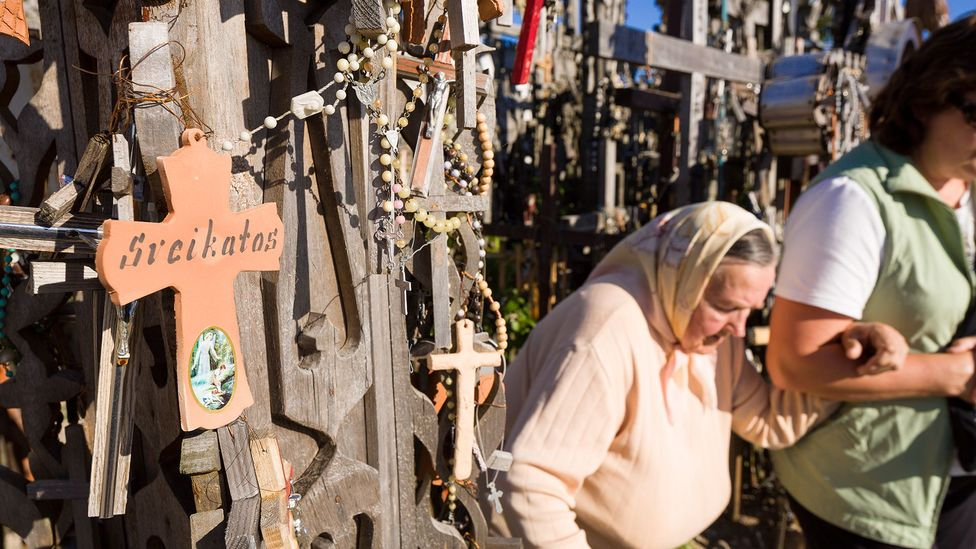 The site has become a magnet for pilgrims of all denominations (Credit: Thierry Monasse/Getty Images)