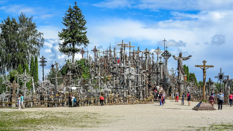 No-one knows how Lithuania's Hill of Crosses came to be (Credit: Paul Stewart)