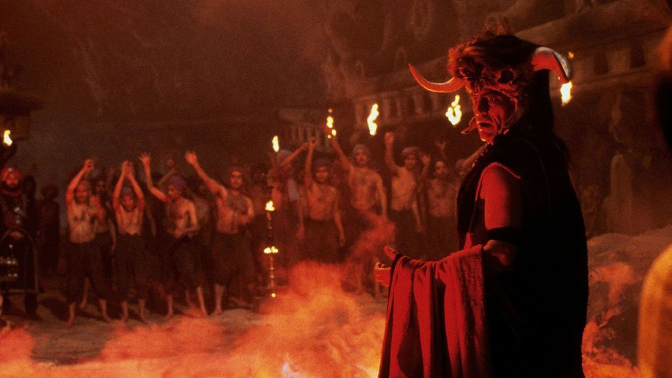 In Indiana Jones and the Temple of Doom, the villains are an Indian Thuggee cult that performs human sacrifices which involve ripping out a victim's heart (Credit: Alamy)