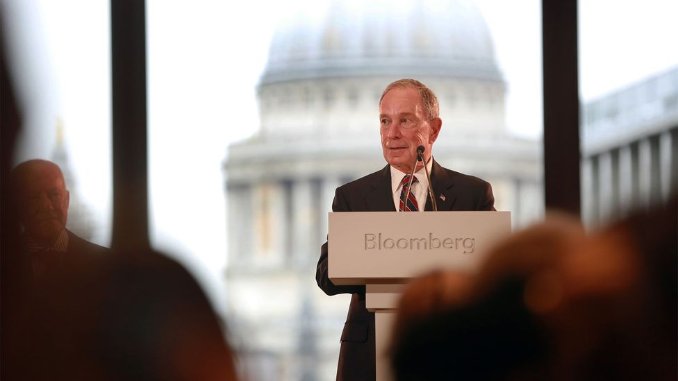 Michael Bloomberg, founder of Bloomberg LP, hosts a press conference to unveil the company's new European headquarters in the City of London (Credit: Matt Alexander/PA Wire)