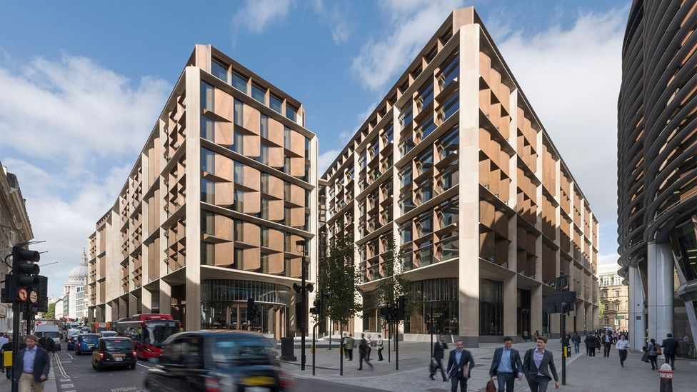 Bloomberg's new European HQ comprises two buildings divided by a pedestrianised dining arcade, amounting to around 1.1m sq ft of space (Credit: Nigel Young/Foster + Partners)