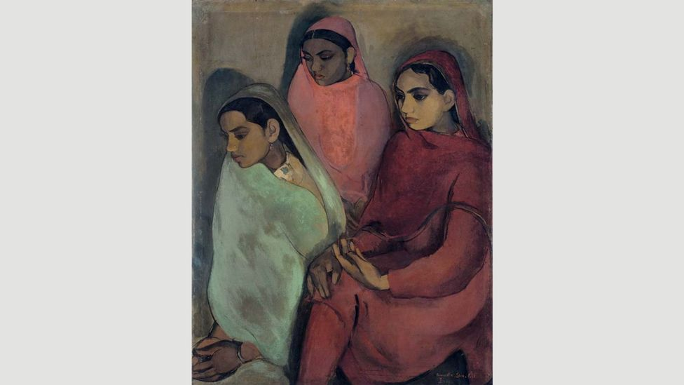 Three Girls by Amrita Sher-Gil, 1935 (Credit: Getty Images)