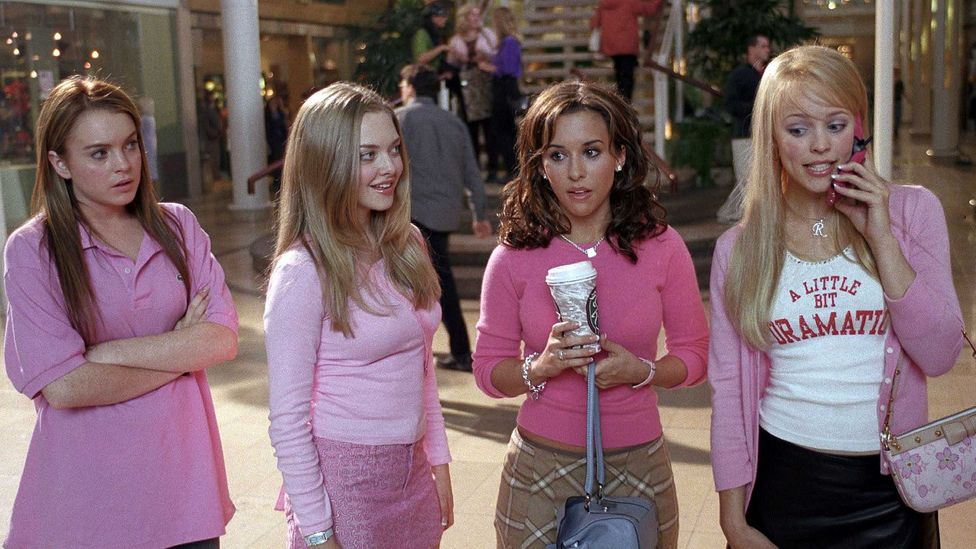 Paramount Pictures' movie 'Mean Girls' analyses the tacit laws of popularity that divide students into tightly-knit cliques (Credit: Alamy)