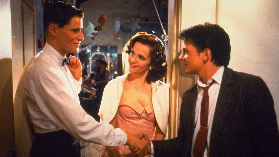 In Universal Pictures movie, Back to the Future, Marty McFly relives his parents' painful experience of 1950s high school hierarchy (Credit: Getty Images)